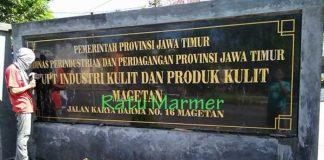 Papan Nama Marmer Ratu Marmer Tulungagung